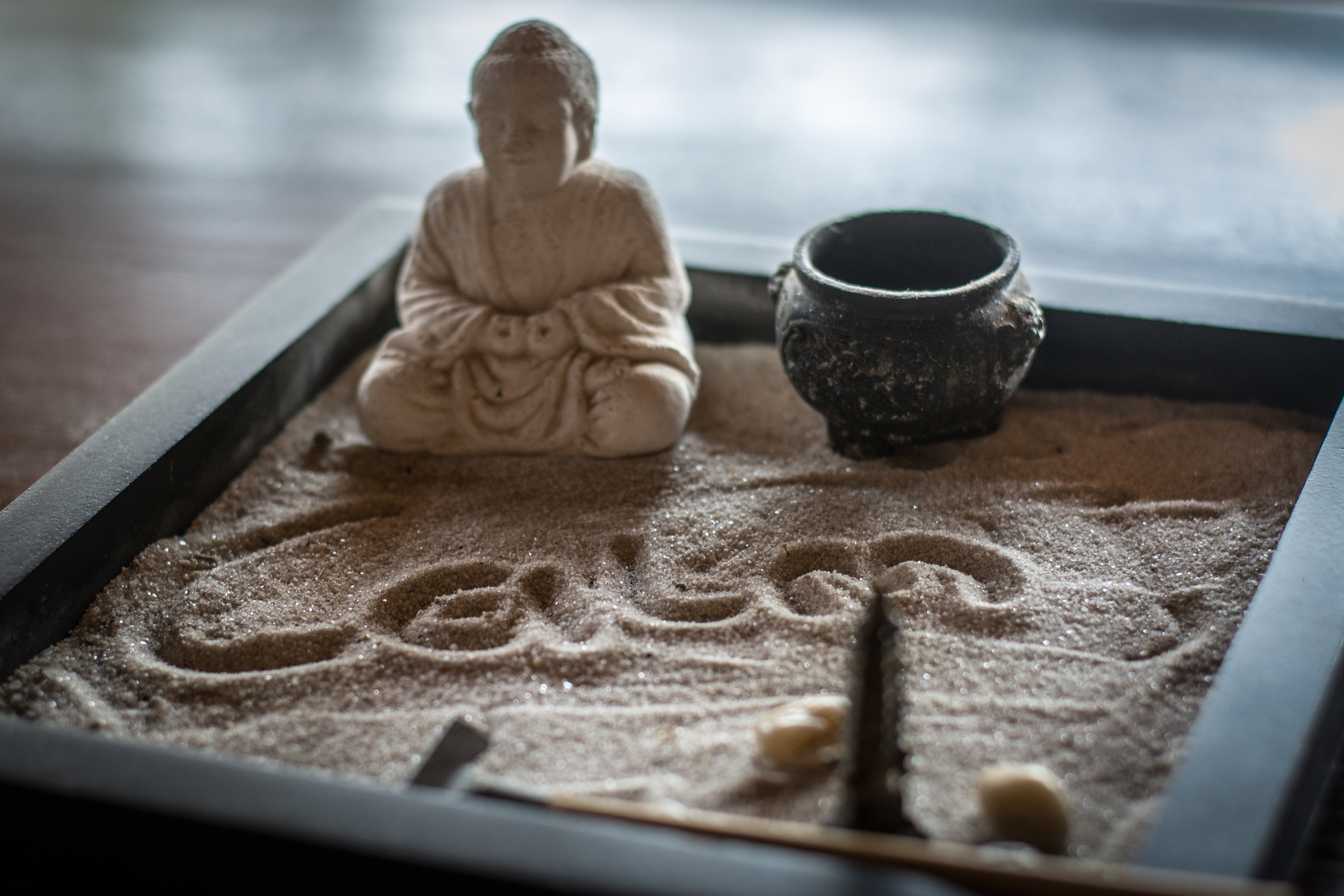 zen garden in room
