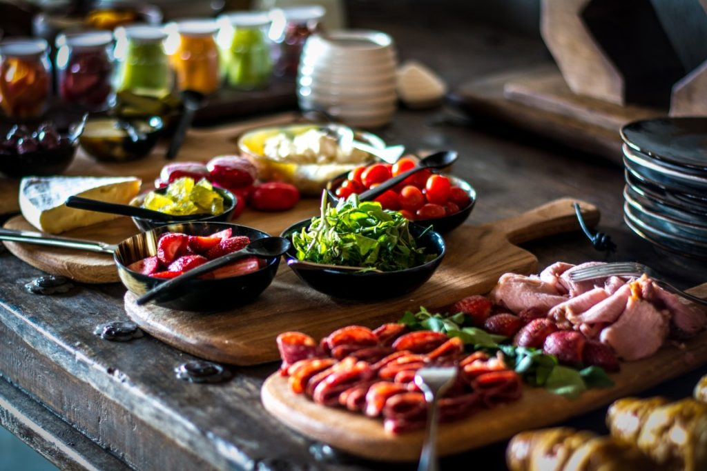 Breakfast buffet at Garonga Safari Camp