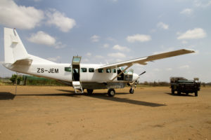 Take a private charter from Nelspruit KMIA to Garonga's airstrip with Odie Air