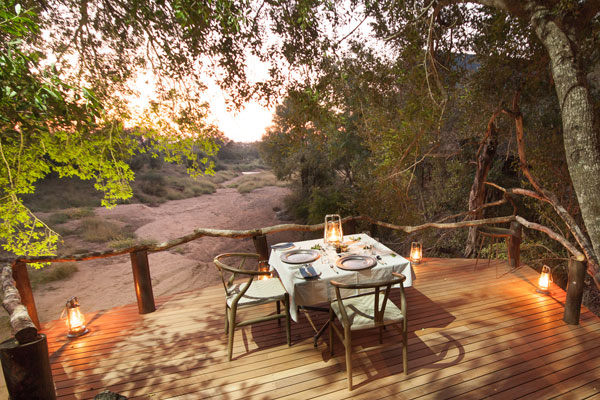Private dining at Garonga Safari Camp