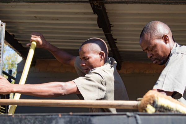 Tyre Repair, Luxury Safari, Behind the Scenes